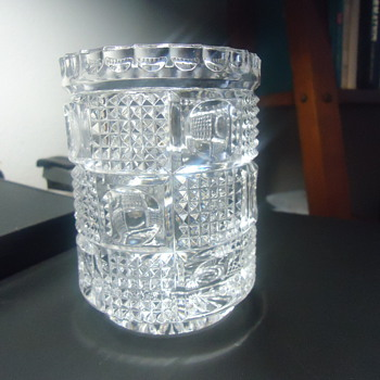 i need to know is ths FOSTORIA AMERICAN GLASS JAR. - Glassware