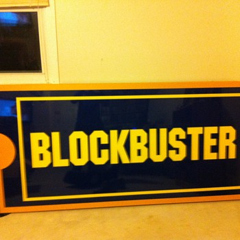 1999 Light up BlockBuster Sign - Signs