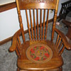 This is a Rocker that I refinished with my daughter