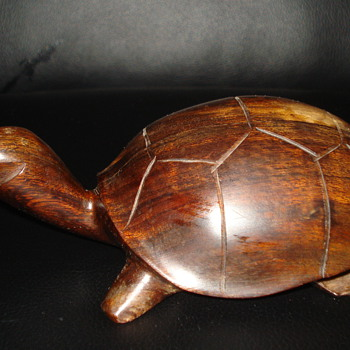 WOODEN TURTLE  - Animals