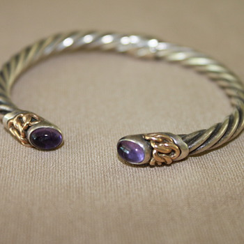 Sterling Silver and 14K Gold Accent Bracelet