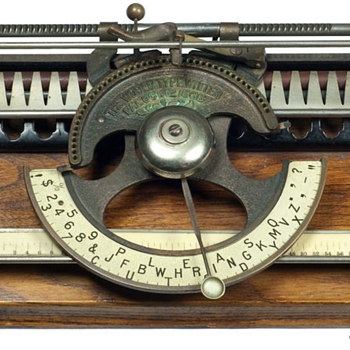 World typewriter - 1886