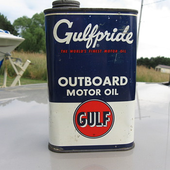 Gulf Outboard Oil Can - Petroliana