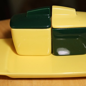 Franciscan Condiment Set in A's Colors! - Mid-Century Modern