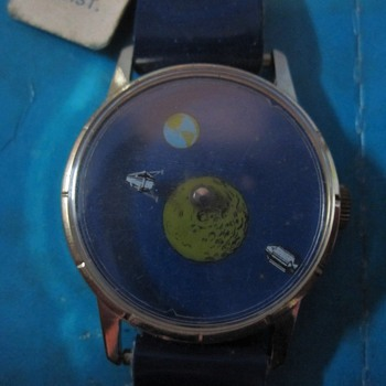 "1969 ""Moon Landing"" Mystery Dial Wrist Watch - Wristwatches"