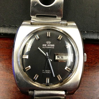 Vintage men's Rene Rochard watch - Wristwatches