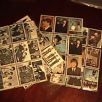 Todays Goodwill Finds! Vintage Beatles Collectors Cards 1960&#039;s