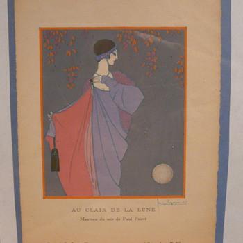 AU CLAIR DE LA LUNE  - GEORGES LEPAPE 1913 - Art Deco