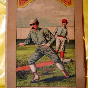 "1890's Boston V Detroit Baseball Program ""Steal Up"" Great Graphics - Baseball"