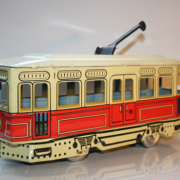 Gunthermann Tin toy Tram Streetcar