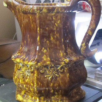 Brown drip glaze pitcher