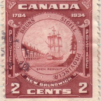 The Backward Flag - Canadian 1934 Commemorative Issue