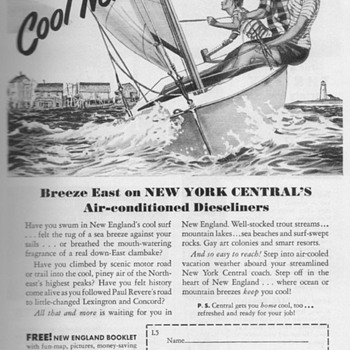 1951 - New York Central Railroad Advertisement - Advertising