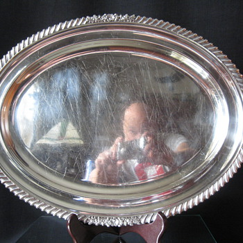   SHEFFIELD PLATED PLATTER -WHAT YEAR? - Sterling Silver