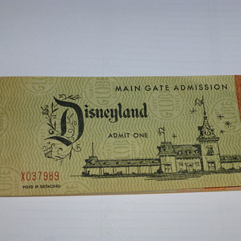 A complete 1958 Disneyland ticket book I found in a box - Paper