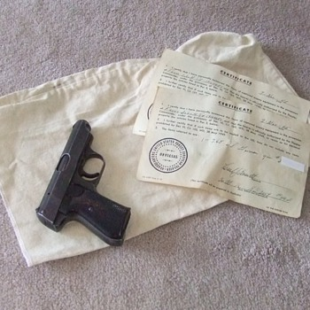 Sauer 38H Nazi Pistol with capture paperwork