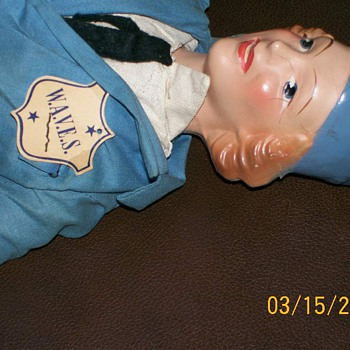 Wav Military doll by Ralph Freundlich WWII 1940&#039;s  - Dolls