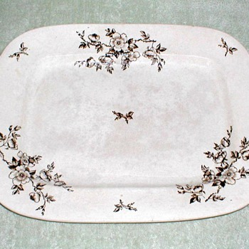 1870's - Ashworth Ironstone Platter - China and Dinnerware