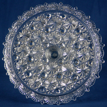 Belmont Glass Works #100 Daisy and Button with Lace Edge c1886 - Glassware
