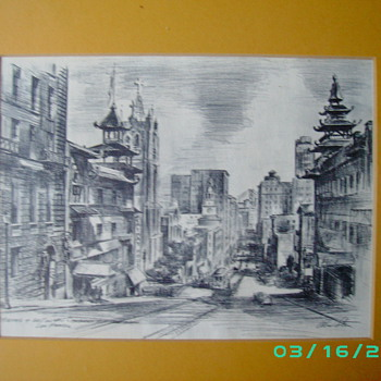 Alec (Alexander} Stern Litho? 1904- 1994 Listed artist Litho From Bay area Calfornia