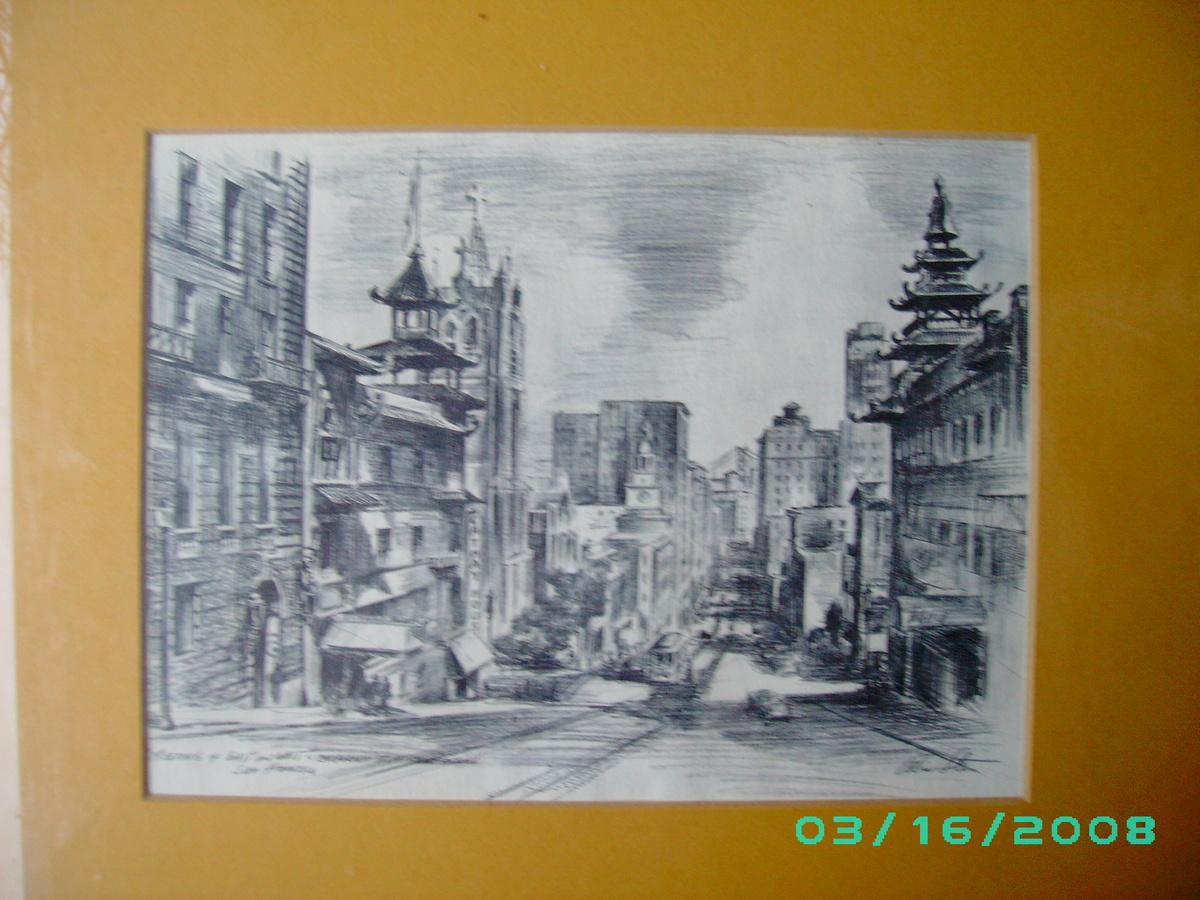 Alec Alexander Stern Litho 1904 1994 Listed Artist