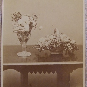 Cabinet card of floral still life c. 1890 - Photographs
