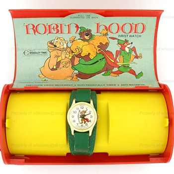 c.1970's Disney Robin Hood Watch in Box by Bradley - Wristwatches
