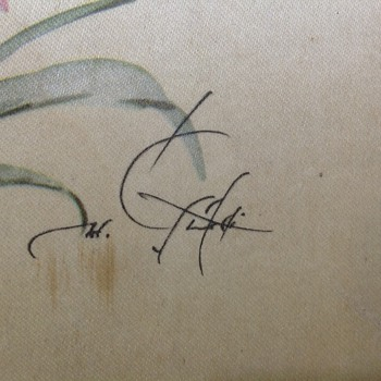 old italian silk? painting. - Visual Art