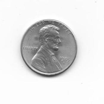 "1985 D Silver ""Odd"" Penny"