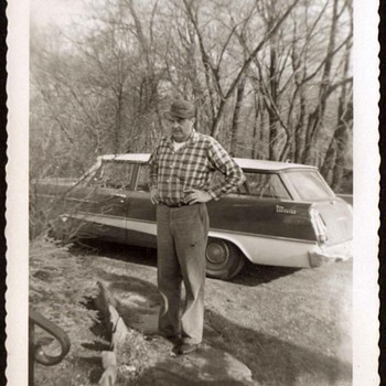 1959 - Family Photograph - Grandpa & his Plymouth