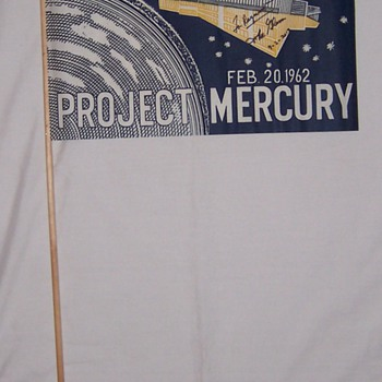 1962 John Glenn Parade Flag Signed By John Glenn - Military and Wartime