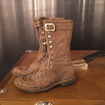 Worn Boots Sculpture - Visual Art