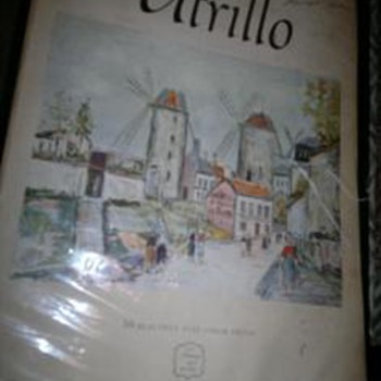Utrillo Art book by  harry n Abrams -