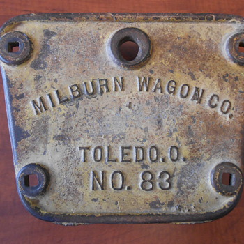 Milburn Wagon Co. Cast Iron Plate/Sign and Advertisements. - Signs