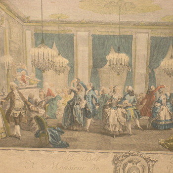 the evening dress ball at the house of monsieur villemorien print by L. Provost
