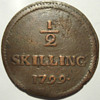 1799 Danish 1/2 Skilling Love Token