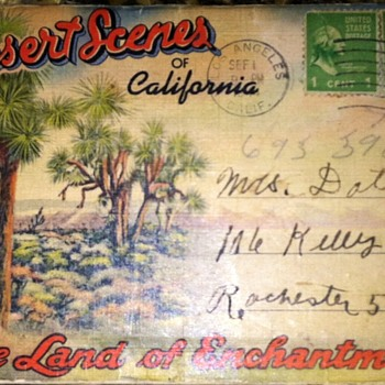 Vintage fold up post card