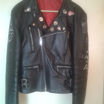 EARLY 1980'S PUNK ROCK BIKER JACKET