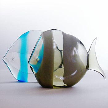 Fish sculptures Flavio Poli  (Seguso Vetri d'Arte, 1950s) - Art Glass
