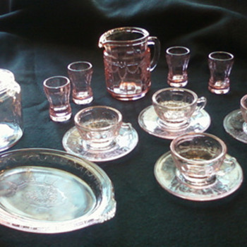 mini depression glass