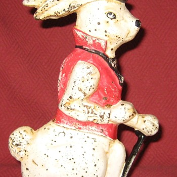 Vintage Well Dressed Rabbit Doorstop - Tools and Hardware