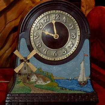 "Chronart ""Ye Olde Windmill"" Clock - Clocks"