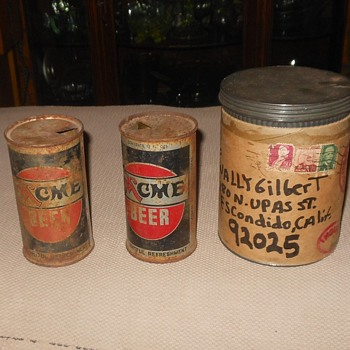 Vintage Acme Beer Cans for Wally
