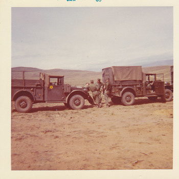 Army 1963 on a field mission  - Military and Wartime
