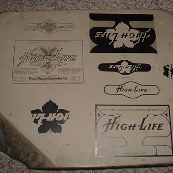 High Life Malt Beverage Litho Stone 1918 