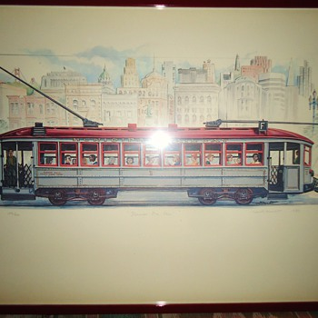 Clang, Clang, Clang goes the Trolley, Ding, Ding, Ding goes the Bell! Judy Garland S. F. trolley - Posters and Prints