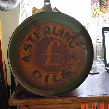 Sterling Oils...Five Gallon Oil Rocker Can...1920's