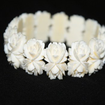 Carved Stretch Bracelet  - Costume Jewelry