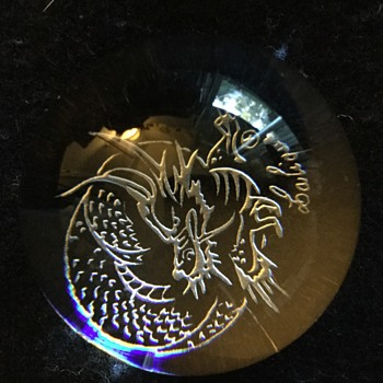 Chinese mood Lalique paperweight