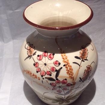 Hand painted karamik vase